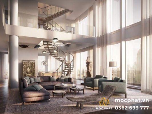 Căn Penthouse với kiến trúc tân cổ điển