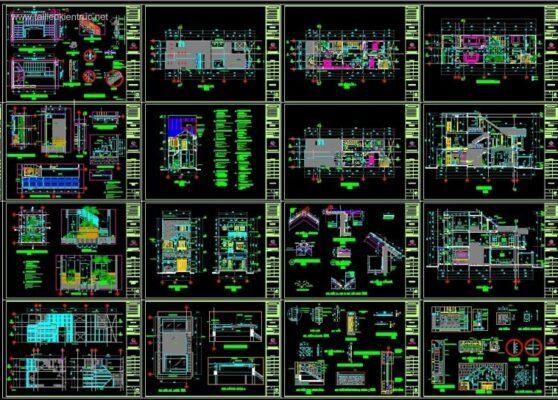 hồ sơ thiết kế nhà phố full