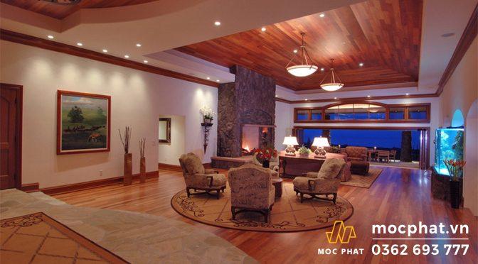 Nhà ốp gỗ tự nhiên