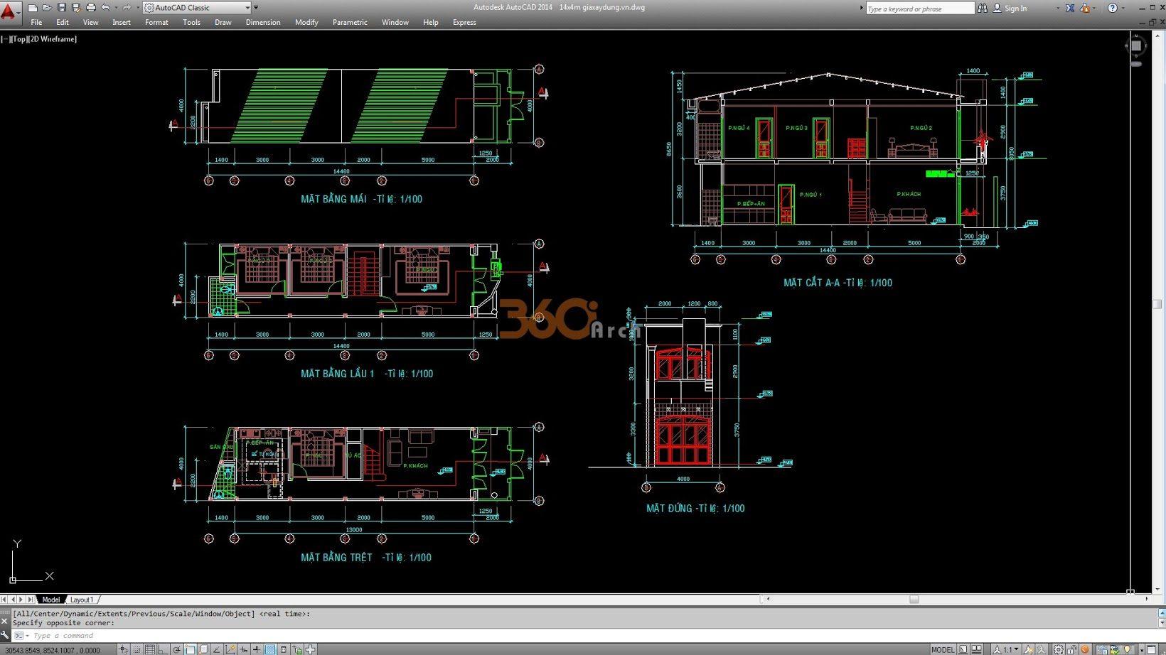 Tổng hợp bản vẽ nhà phố (file cad)