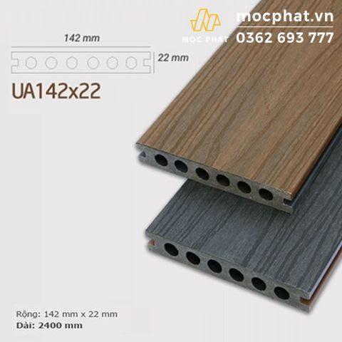 Sàn gỗ nhựa Composite lỗ tròn