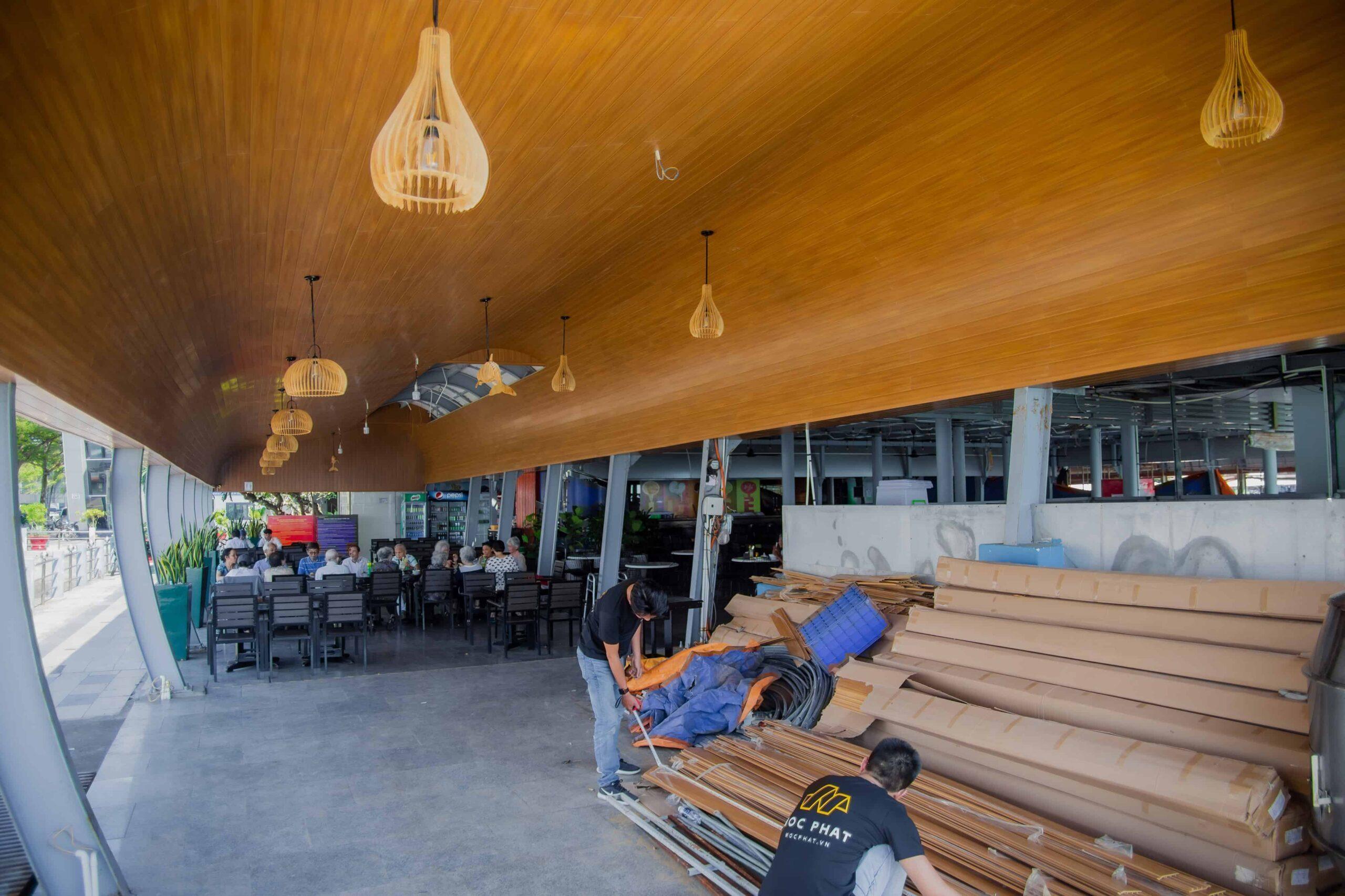 Ốp trần gỗ nhựa Composite công trình Gành Hào, Vũng Tàu