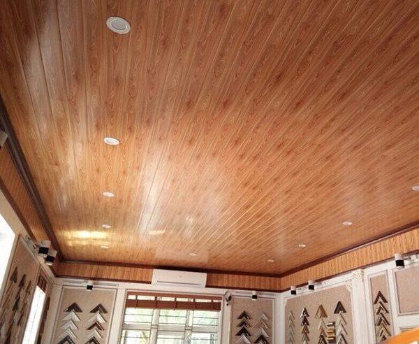Hình ảnh ốp trần gỗ công nghiệp