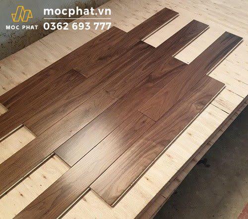 Sàn gỗ óc chó nguyên thanh tự nhiên