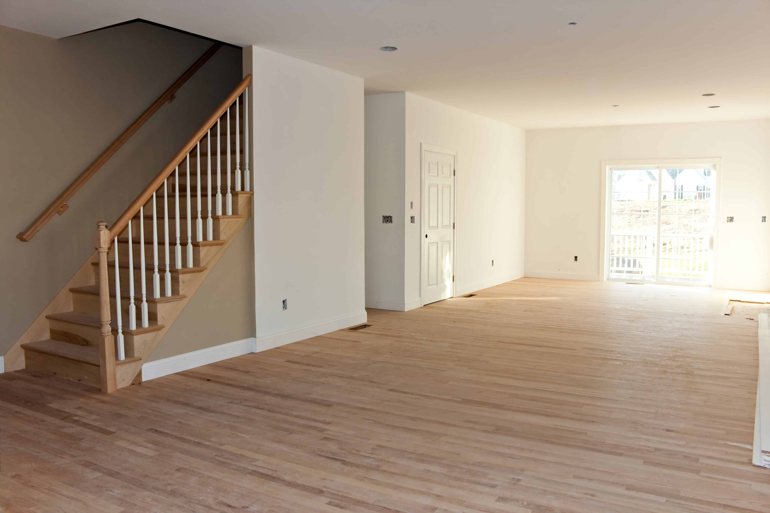 Sàn gỗ tự nhiên chưa hoàn thiện