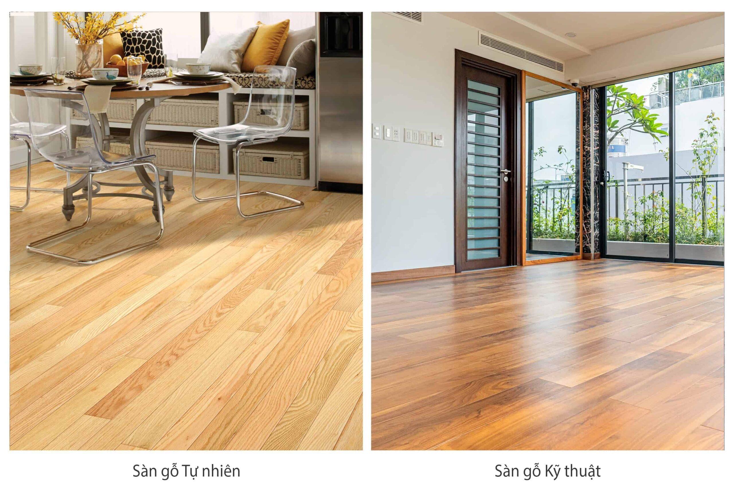 Sàn gỗ Tự nhiên và Sàn gỗ Kỹ thuật