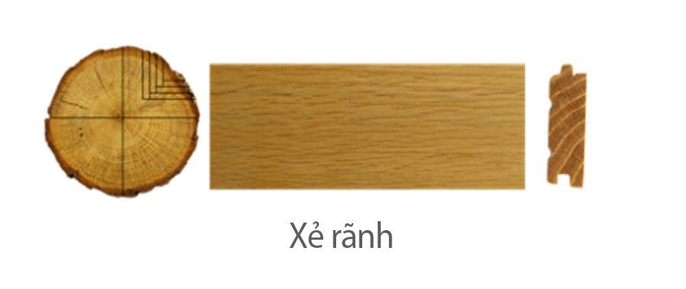 Thớ gỗ xẻ rãnh