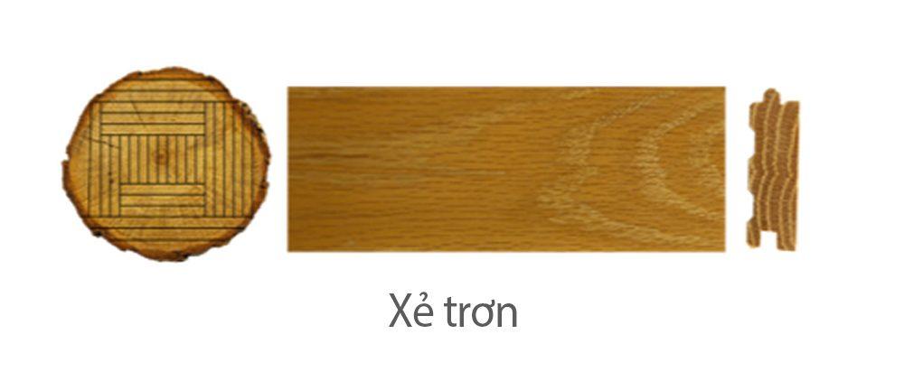 Thớ gỗ xẻ trơn