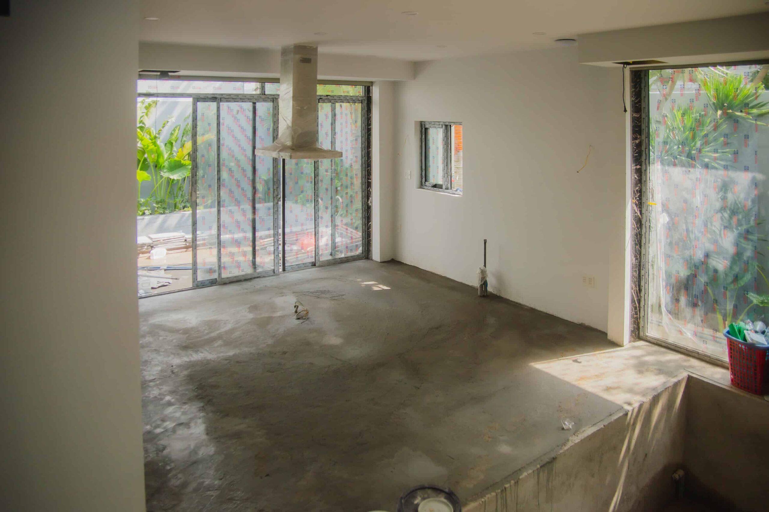 Chuẩn bị không gian để lắp đặt sàn gỗ tự nhiên