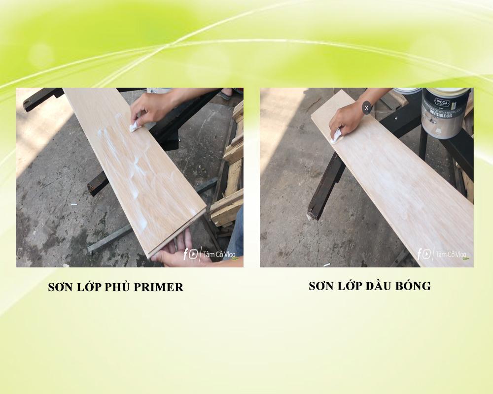 Sơn hoàn thiện bề mặt sàn gỗ