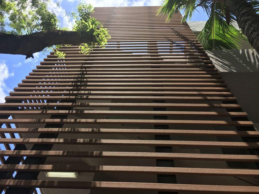 Hình ảnh lam chắn nắng gỗ nhựa
