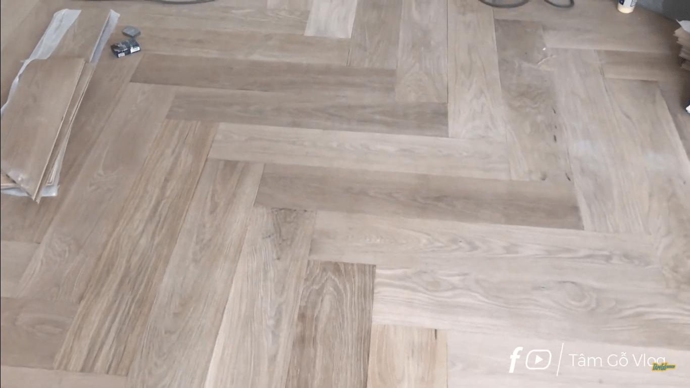 Sàn gỗ sồi không mắt không dác