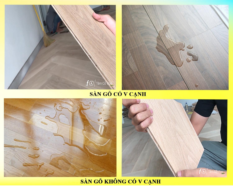 So sánh sàn gỗ có V cạnh và không có V cạnh