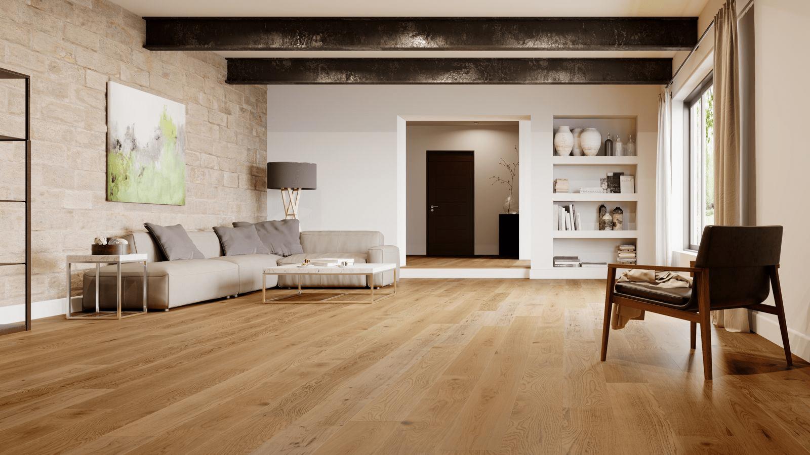 Sàn gỗ kỹ thuật có ngoại hình gần giống hoàn toàn sàn gỗ tự nhiên