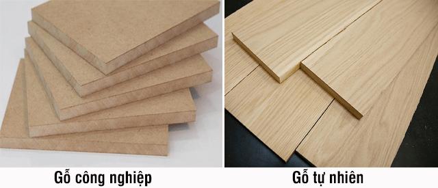Gỗ công nghiệp và gỗ tự nhiên
