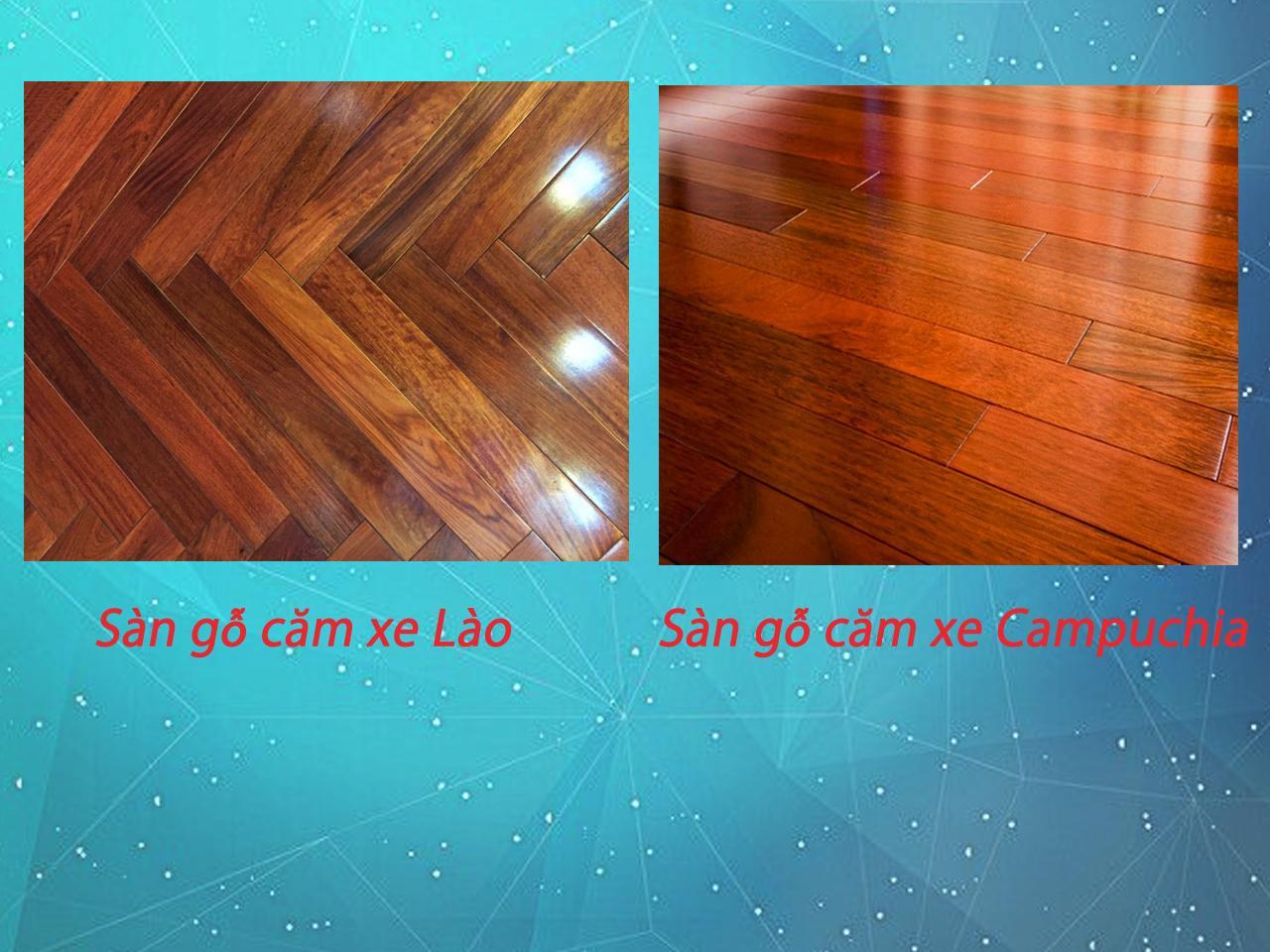 các loại gỗ căm xe làm sàn gỗ